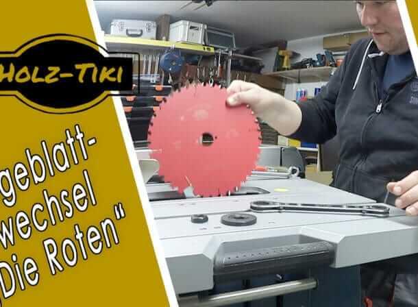 """Holz-Tiki tauscht sein Standard Sägeblatt und baut """"Die Roten"""" in seine Bosch GTS 10"""